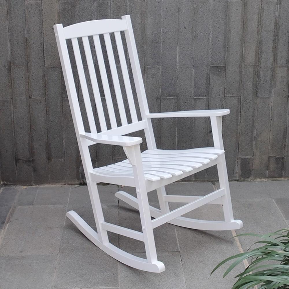 Cambridge Casual Alston Porch Rocking Chair   White