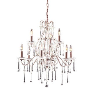 Elk Opulence Rust and Clear Crystal 9-light Chandelier