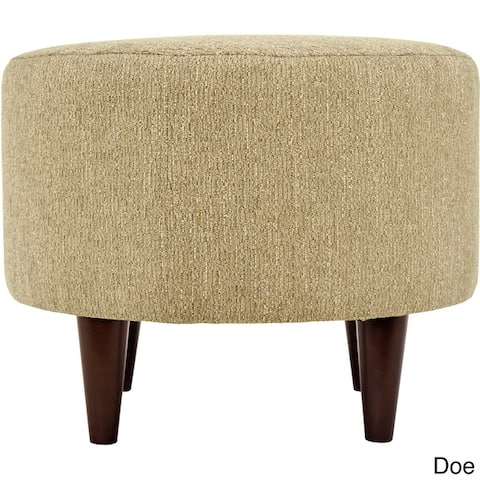MJL Furniture Sophia Text2Olivia Round Upholstered Ottoman
