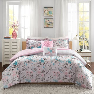 Intelligent Design Lucy Pink/ Teal Comforter Set