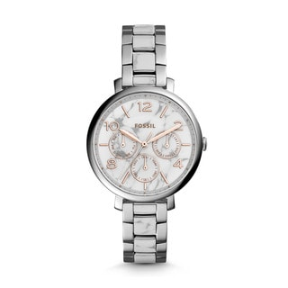 Fossil Women's ES3939 Jacqueline Multi-Function White/Grey Dial Two-Tone Bracelet Watch