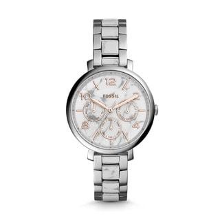 Fossil Women's ES3939 Jacqueline Multi-Function White/Grey Dial Two-Tone Bracelet Watch