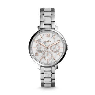 Fossil Women's ES3939 Jacqueline Multi-Function White/Grey Dial Two-Tone Bracelet Watch https://ak1.ostkcdn.com/images/products/11454283/P18412673.jpg?impolicy=medium