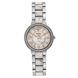 Fossil Women's Virginia Two-Tone Stainless Steel Bracelet Watch|https://ak1.ostkcdn.com/images/products/11454290/P18412678.jpg?impolicy=medium