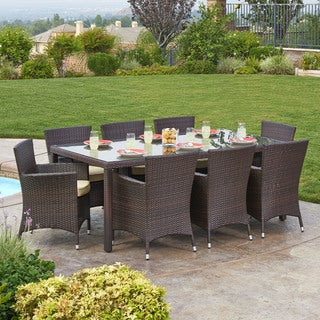 Antonio 9-Piece All-Weather Wicker Dining Set