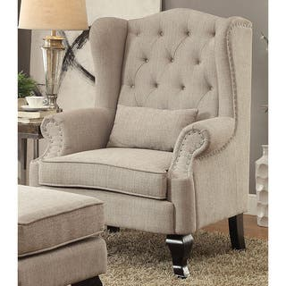 Buy wingback chairs living room chairs online at our best living room furniture for Wingback recliner chairs living room