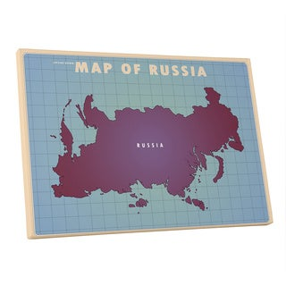 American Flat 'Russia Upside Down' Gallery Wrapped Canvas Wall Art