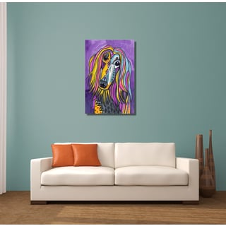 Heather Galler 'Afghan' Dog Gallery-wrapped Canvas Wall Art