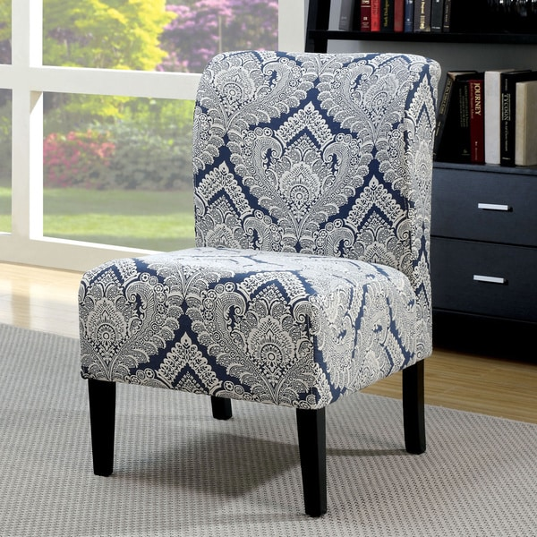 Attrayant Furniture Of America Bessia Modern Patterned Black Wood Accent Chair