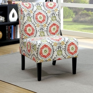 Furniture of America Bessia Modern Patterned Accent Chair