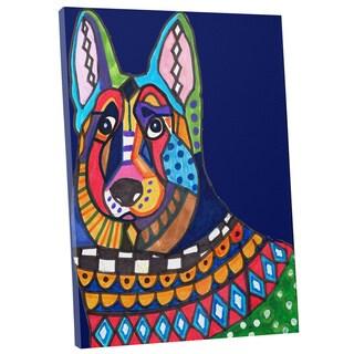 Heather Galler 'German Shepherd' Dog Gallery-wrapped Canvas Wall Art