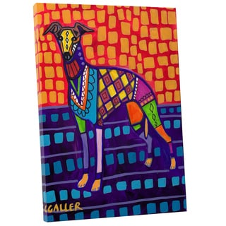 Heather Galler 'Greyhound' Dog Gallery-wrapped Canvas Wall Art
