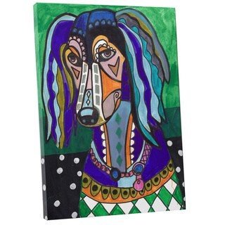 Heather Galler 'Saluki' Dog Gallery-wrapped Canvas Wall Art