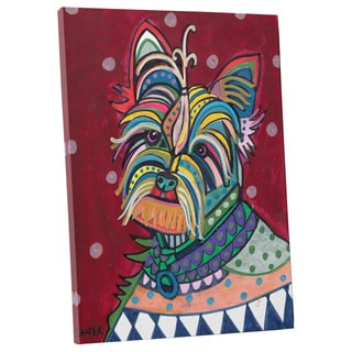 Heather Galler 'Yorkie' Dog Gallery-wrapped Canvas Wall Art