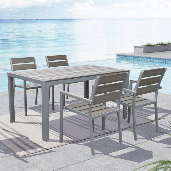 Peachy Shop Havenside Home Tumaco Sun Bleached Grey Outdoor Dining Machost Co Dining Chair Design Ideas Machostcouk