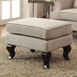 Furniture of America Irving Traditional Upholstered Ottoman