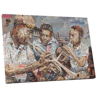 Ines Kouidis 'Blues Boys' Gallery Wrapped Canvas Wall Art