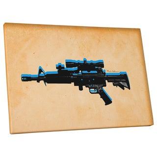 Mark Ashkenazi 'Assault Rifle' Gallery Wrapped Canvas Wall Art