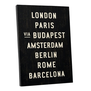 Michael Jon Watt 'Capitals in Europe' Gallery Wrapped Canvas Wall Art