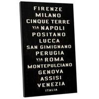 Michael Jon Watt 'Cities in Italy' Gallery Wrapped Canvas Wall Art