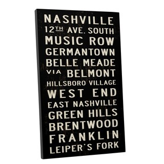 Michael Jon Watt 'Cities in Tennessee' Gallery Wrapped Canvas Wall Art