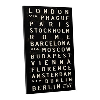 Michael Jon Watt 'From London to Berlin' Gallery Wrapped Canvas Wall Art