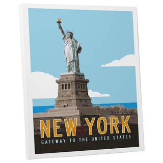 Michael Jon Watt 'NY Gateway to the United States' Gallery Wrapped Canvas Wall Art