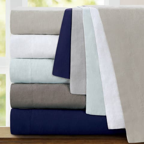 Echelon Home Washed Belgian Linen Pillowcases (Set of 2)
