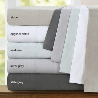 Echelon Home Washed Belgian Linen Pillowcases (Set of 2) (2 options available)
