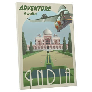 Steve Thomas 'Adventure Awaits in India' Gallery Wrapped Canvas Wall Art