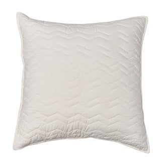 Chevron Ivory Cotton Sham