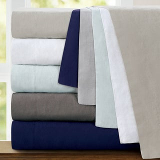 Echelon Home Washed Belgian Linen Deep Pocket Sheet Set