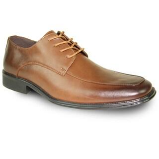 BRAVO Men Dress Shoe MILANO-2 Oxford Brown