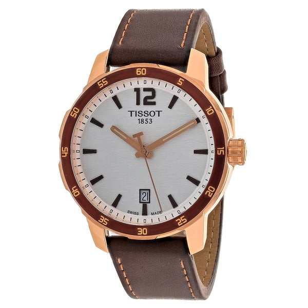 Tissot Men's Quickster Round Brown Leather Strap Watch