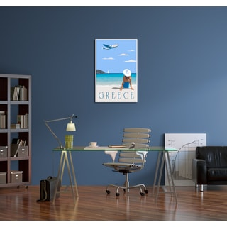 Steve Thomas 'Greece' Gallery Wrapped Canvas Wall Art