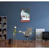 Steve Thomas 'Santa's Workshop at the North Pole' Gallery Wrapped Canvas Wall Art