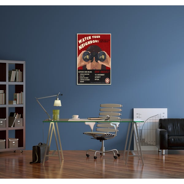 Steve Thomas 'Zombie Awareness Association Watch Your Neighbor.' Gallery Wrapped Canvas Wall Art