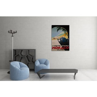 Vintage Apple 'Grand Prix Monaco' Gallery Wrapped Canvas Wall Art