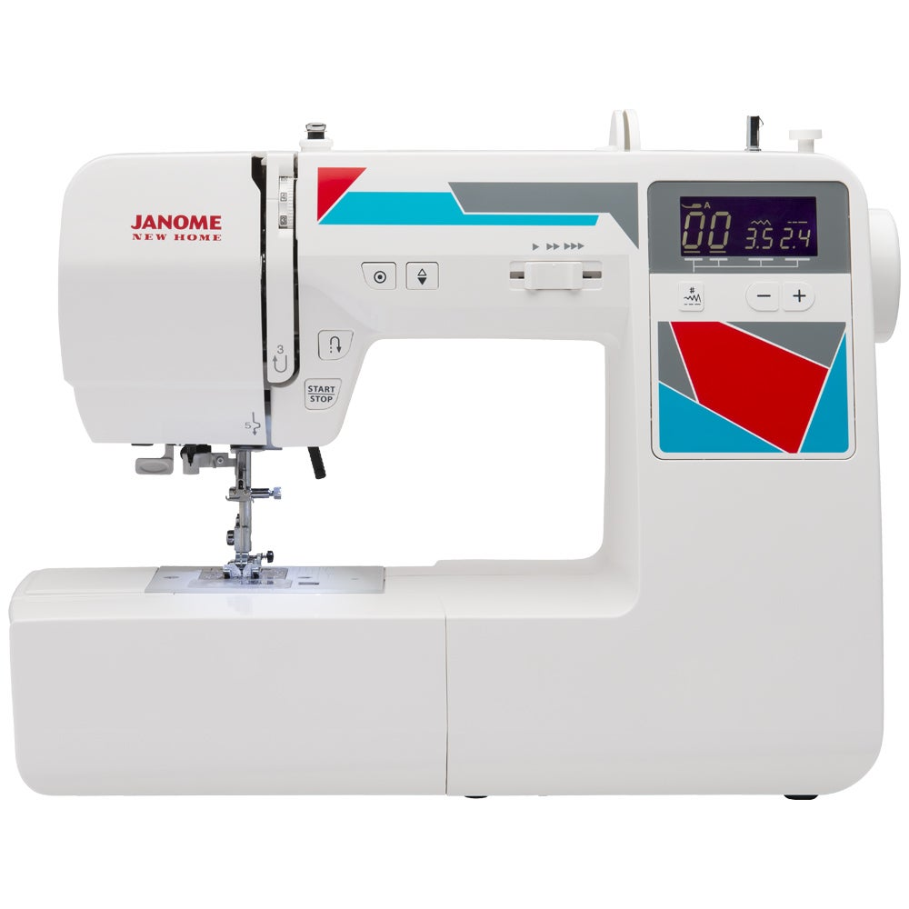 Janome MOD-100 Computerized Sewing Machine (MOD-100), Whi...