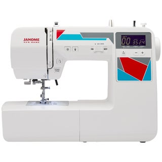 Janome MOD-100 Computerized Sewing Machine with 100 Built-In Stitches, 7 One-Step Buttonholes, Drop Feed, and Accessories