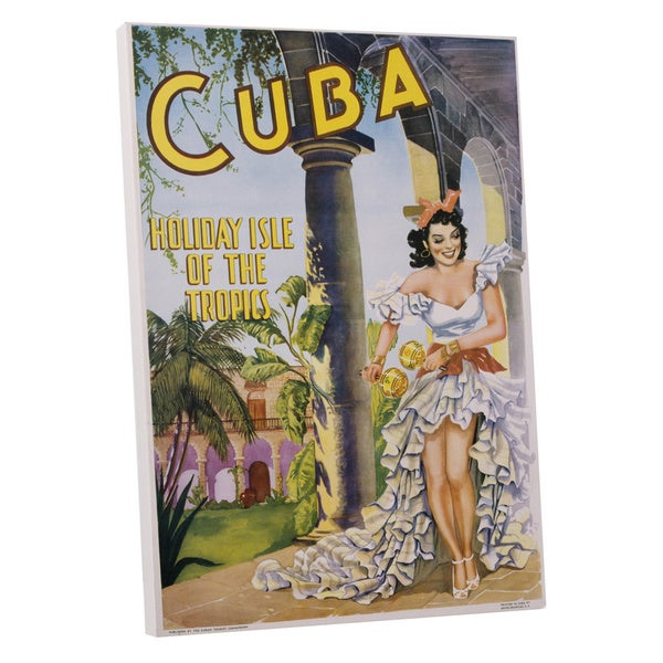 Vintage Apple \'Holiday Isle Cuba\' Gallery Wrapped Canvas Wall Art ...