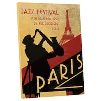 Who Art Now 'Jazz Festival in Paris' Gallery Wrapped Canvas Wall Art