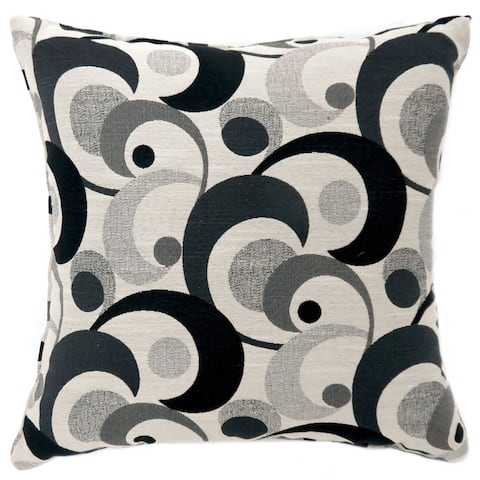 Furniture of America Serena Swirling Patterned Throw Pillows (Set of 2)
