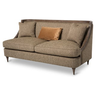 Dallas Wood Trim Sofa by Michael Amini