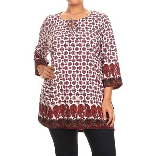 MOA Collection Women's Plus Size Printed Top