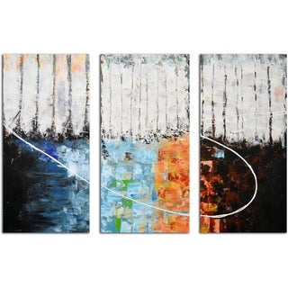 Blocks of Fire and Ice Original Painting on Canvas