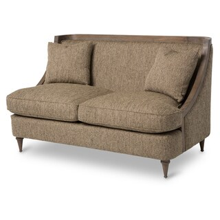 Dallas Wood Trim Loveseat by Michael Amini