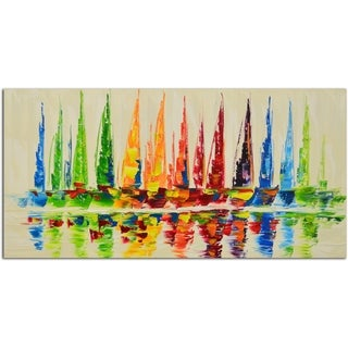 Ship Sails Original Oil Painting on Canvas