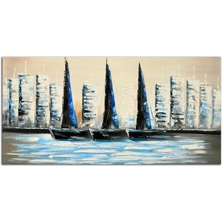 Summer Sailing Original Oil Painting on Canvas