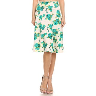 MOA Collection Women's Floral Pencil Skirt (Option: S)